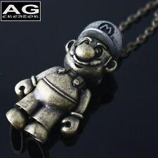 "Super mario G pendant 31"" steel chain necklace US SELLER"