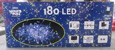 180 LED BLANCOS CABLE TRANSPARENTE 9 MT CON JUEGOS LUZ X USO INTERNO EXTERIOR