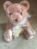 RARE Vintage Hermann Teddy Bear Pink Mohair, Growler. 197/4000
