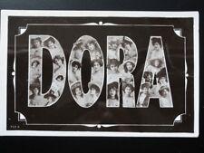 Greeting: DORA Name Postcard (women in each letter) c1906 RP