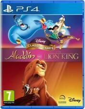 Disney Juegos Clásicos Aladdin Y El Rey León PS4 Nuevo Retro Niños Family Games