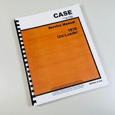 Case 1816 Uni Loader Skid Steer Service Repair Manual Technical Shop Book