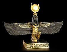 Egipcia Isis Figura NEGRO Y ORO - Egipto Decoración Diosa Divinidad