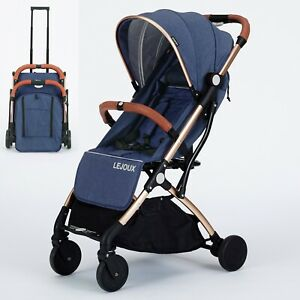LEJOUX™ PRAM FOLDABLE BABY STROLLER WITH TROLLEY PULL CHILDRENS PUSHCHAIR BUGGY