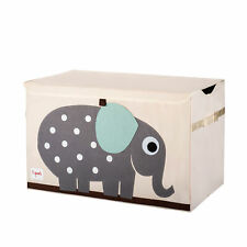 3 Sprouts Kids Toy Chest - Storage Trunk for Boys and Girls Room, Elephant