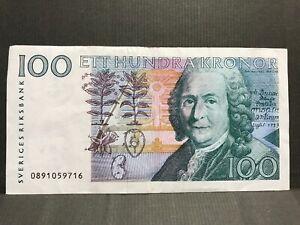 Sveriges Riksbank, 100 Swedish Krona (Carl von Linne issue 2000). P-57b.4