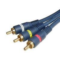 12 ft Steren premium 3-RCA male to male heavy duty A/V audio video cable