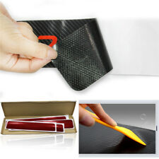 4X Car Sticker Door Pedal Step Sill Cover Protector Carbon Look Anti Scratch Red