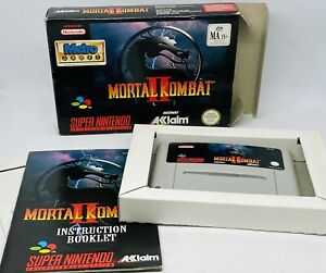 Mortal Kombat II 2 Snes Super Nintendo Boxed PAL CIB - With Manual - VGC