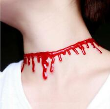 Halloween Fashion Jewelry Party Bloody Short Necklace Blood Look Vampire Choker