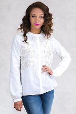 NWT $247 Italian Designer Cotton Blouse Shirt Top Size S 8 10 SISTE'S COLLECTION
