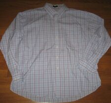 Joseph & Feiss Men's Shirt Button  Non Iron Plaid White Purple Blue XX Large