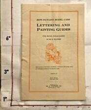 1944 Lettering & Paint Guide for 300+ Model Train Railroad Cars Milwaukee WI