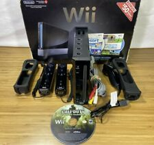 Black Nintendo Wii Console RVL-001 Wii w/ Box - GameCube Compatible FULLY TESTED