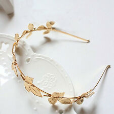 Women Golden Leaves Headband Alloy Hair Accessory Gift Hairband Fitted AS1
