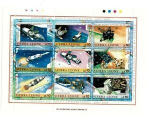 VINTAGE CLASSICS - Sierra Leone 1071 Space Exploration History - Sheet Of 9 -MNH
