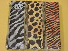 20 Skins Felle SERVIETTEN leoparden zebra tiger Afrika 1 Packung OVP Tiere IHR