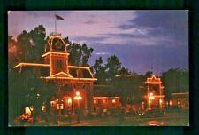 Postcard Disneyland City Hall at Night Main Street USA. G2