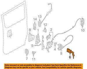 NISSAN OEM 13-15 NV200 Side Sliding Door-Lock Cylinder H26013LM0A