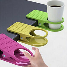 Cup Drink Holder Clip Coffee Mug Desk Lap Folder Holder Office SuppliesSS