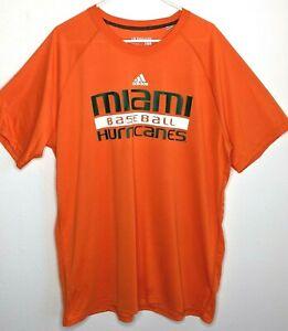 adidas Ultimate Tee Mens 2X Miami Hurricane Baseball Athletic Shirt