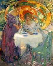 Afternoon Tea by Richard E Miller - Women Garden Parasol Sunny 8x10 Print 1083