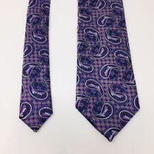 """Ermenegildo Zenga Mens Tie Purple Silver Necktie 62.5"""" 3.5"""" XL"""