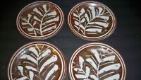 4 INDEPENDENCE STONEWARE TAOS RETIRED VINTAGE SALAD PLATES  8''