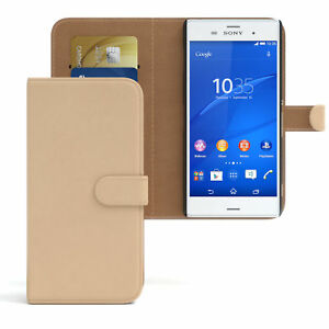 Case for Sony Xperia Z3 Flip Case cover Cover Light Brown