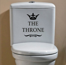 THE THRONE Funny Interesting Vinyl Toilet Wall Stickers Bathroom Decoration