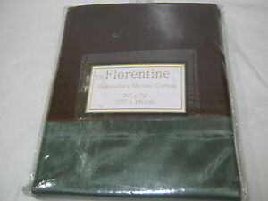 New Beatrice Home Fashions Florentine Embroidery Shower Curtain Chocolate Green
