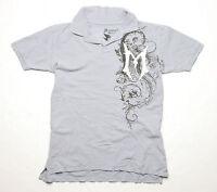Monarchy Logo Embro Short Sleeve Polo (M) Light Grey