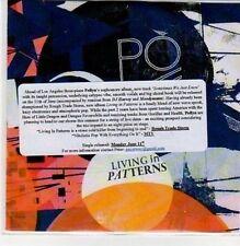 (DC58) Pollyn, Living In Patterns - 2012 DJ CD