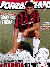 FORZA MILAN n°4 1992 [8A] con poster Costacurta - Cover Van Basten