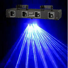 1000mW 4 Lens Blue Laser Light Pro Stage Lighting Show DJ DISCO Band Party Club