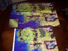 Middle Earth Collectible Card Game CCG MECCG Region Map Two Copies!
