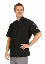 Dnc 3 Way Vented Lightweight Chefs Jacket Short Sleeve White or Black keep cool