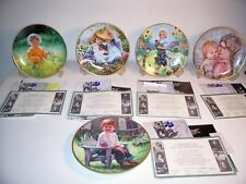 5 KNOWLES COLLECTOR PLATES - MARCH OF DIMES - CHILDREN