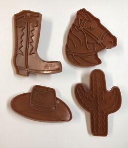 Wilton Vintage 1995 Cookie Cutters Set of 4 Western Cowboy Hat Boot Horse Cactus