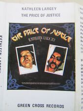 THE PRICE OF JUSTICE - KATHLEEN LARGEY CASSETTE, GREEN CROSS RECORDS, TESTED.