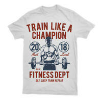 T Shirt Train Like Champion Fitness Gym Mens Work Out Stronger A779b Ls S-3XL