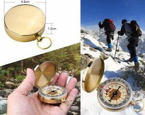 Outdoor Messing Taschen Kompass Wandern Camping Schlüsselbund Wasserdicht Uhr