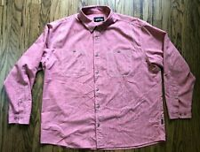 Orvis Mens Long Sleeve Button Front Casual Fishing Shirt Size 2Xl