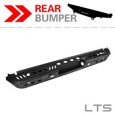 For 2015-2018 Ford F-150 W/ LED LIGHTS BLACK STEEL REAR BUMPER GUARD