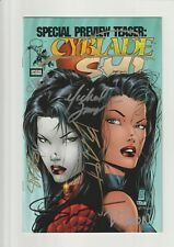 CYBLADE/SHI #NN VF/NM 9.0 (PREVIEW TEASER) 1ST WITCHBLADE! *7x SIGNED* HTF 1995