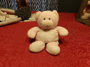 """Adorable 9"""" Retired 2006 TY Pluffies PINKS Pink & White Plush BEAR (*g2)"""
