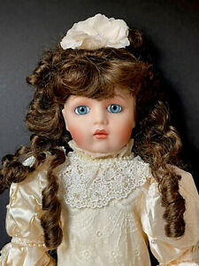 """Reproduction of French Antique Bebe BRU JNE 22"""" Doll by Franklin Mint"""
