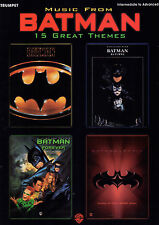 BATMAN FOR TRUMPET 15 GREAT THEMES Theme Sheet Music Book Shop Soiled