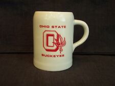 "vintage Ohio State Buckeyes ceramic pottery mug / stein, 5"" tall, very nice"