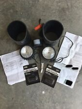 Two HADCO Halogen Par 36, 12 Volt Well Lights, With Connectors And Motion Sensor
